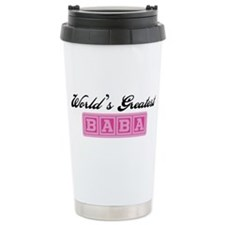 World's Greatest Baba (pink) Travel Mug