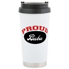 Proud Baba (red and black) Travel Mug