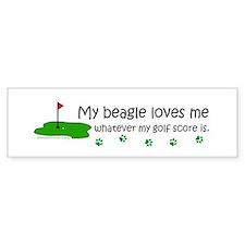 beagle Bumper Car Sticker