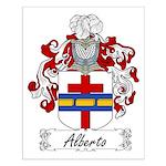 Alberto Family Crest Small Poster
