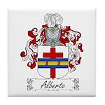 Alberto Family Crest Tile Coaster