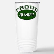 Proud Grandpa (green) Stainless Steel Travel Mug