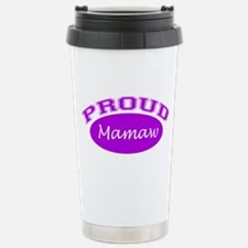 Proud Mamaw (purple) Stainless Steel Travel Mug