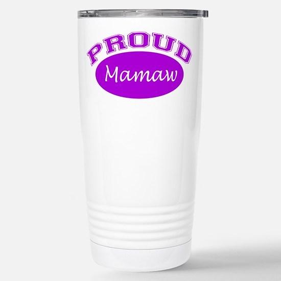 Proud Mamaw (purple) Stainless Steel Travel Mug