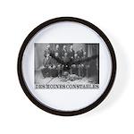 Des Moines Constables Wall Clock