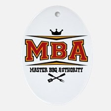 MBA Barbecue Oval Ornament