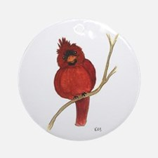 Male Cardinal Ornament (Round)