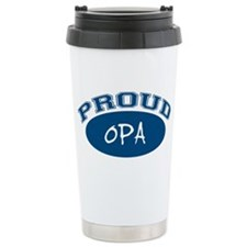 Proud Opa (blue) Travel Mug
