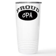 Proud Opa (black) Travel Mug