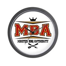 MBA Barbecue Wall Clock