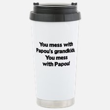 Don't Mess with Papou's Grand Stainless Steel Trav