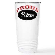 Proud Pepaw (red and black) Travel Mug