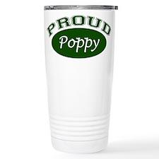 Proud Poppy (green) Travel Mug