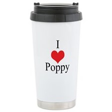 I Love (Heart) Poppy Travel Mug