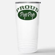 Proud PopPop (green) Stainless Steel Travel Mug