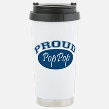 Proud PopPop (blue) Stainless Steel Travel Mug