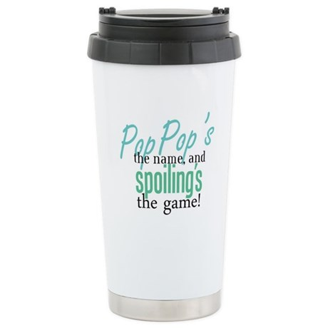 Pop Pop's the Name! Stainless Steel Travel Mug