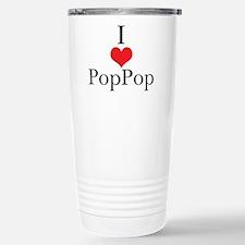 I Love (Heart) PopPop Stainless Steel Travel Mug