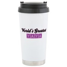 World's Greatest Yaya (2) Travel Mug