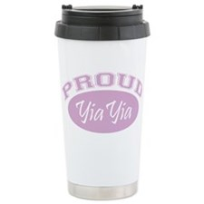 Proud YiaYia (pink) Travel Mug