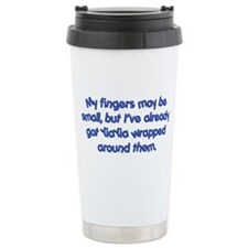 YiaYia's Wrapped (blue) Travel Mug
