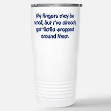 YiaYia's Wrapped (blue) Travel Mug
