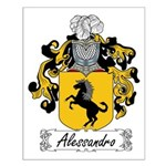 Alessandro Family Crest Small Poster