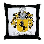 Alessandro Family Crest Throw Pillow
