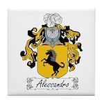 Alessandro Family Crest Tile Coaster