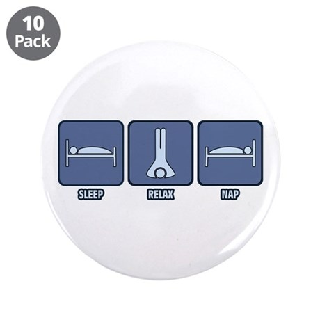 "Sleep Relax Nap 3.5"" Button (10 pack)"