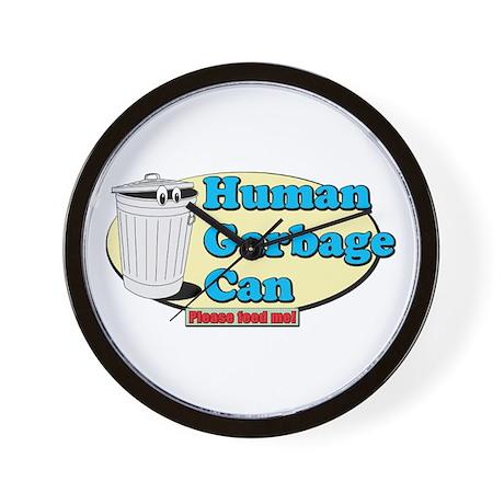 Human Garbage Can Wall Clock