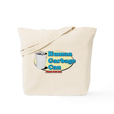 Human Garbage Can Tote Bag