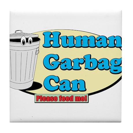 Human Garbage Can Tile Coaster