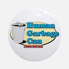 Human Garbage Can Ornament (Round)