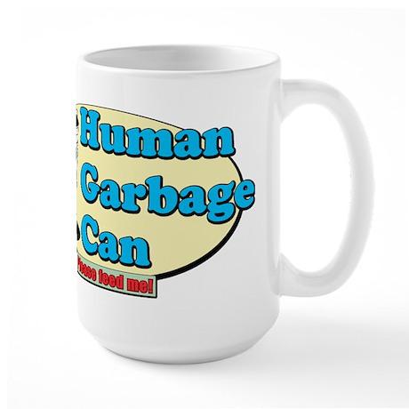 Human Garbage Can Large Mug