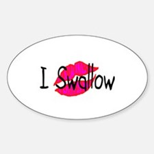 I Swallow Oval Decal