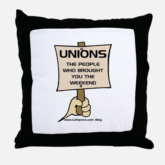 Union Weekends Throw Pillow