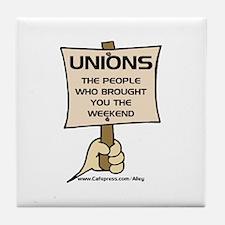Union Weekends Tile Coaster