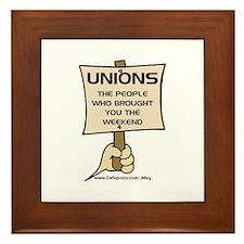 Union Weekends Framed Tile