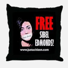 Free Sibel Edmonds Throw Pillow