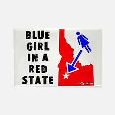 OddWaffles.com Blue Girl i Rectangle Magnet