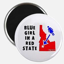 OddWaffles.com Blue Girl i Magnet