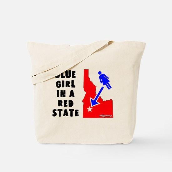 OddWaffles.com Blue Girl i Tote Bag