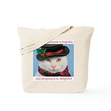 Snow-cat Christmas Tote Bag