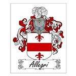 Allegri Family Crest Small Poster