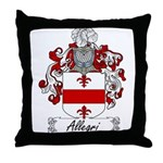 Allegri Family Crest Throw Pillow