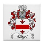 Allegri Family Crest Tile Coaster