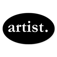 Artist Oval Bumper Stickers