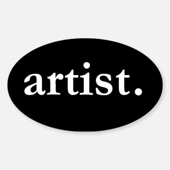 Artist Oval Bumper Stickers