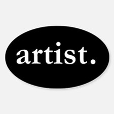 Artist Oval Decal